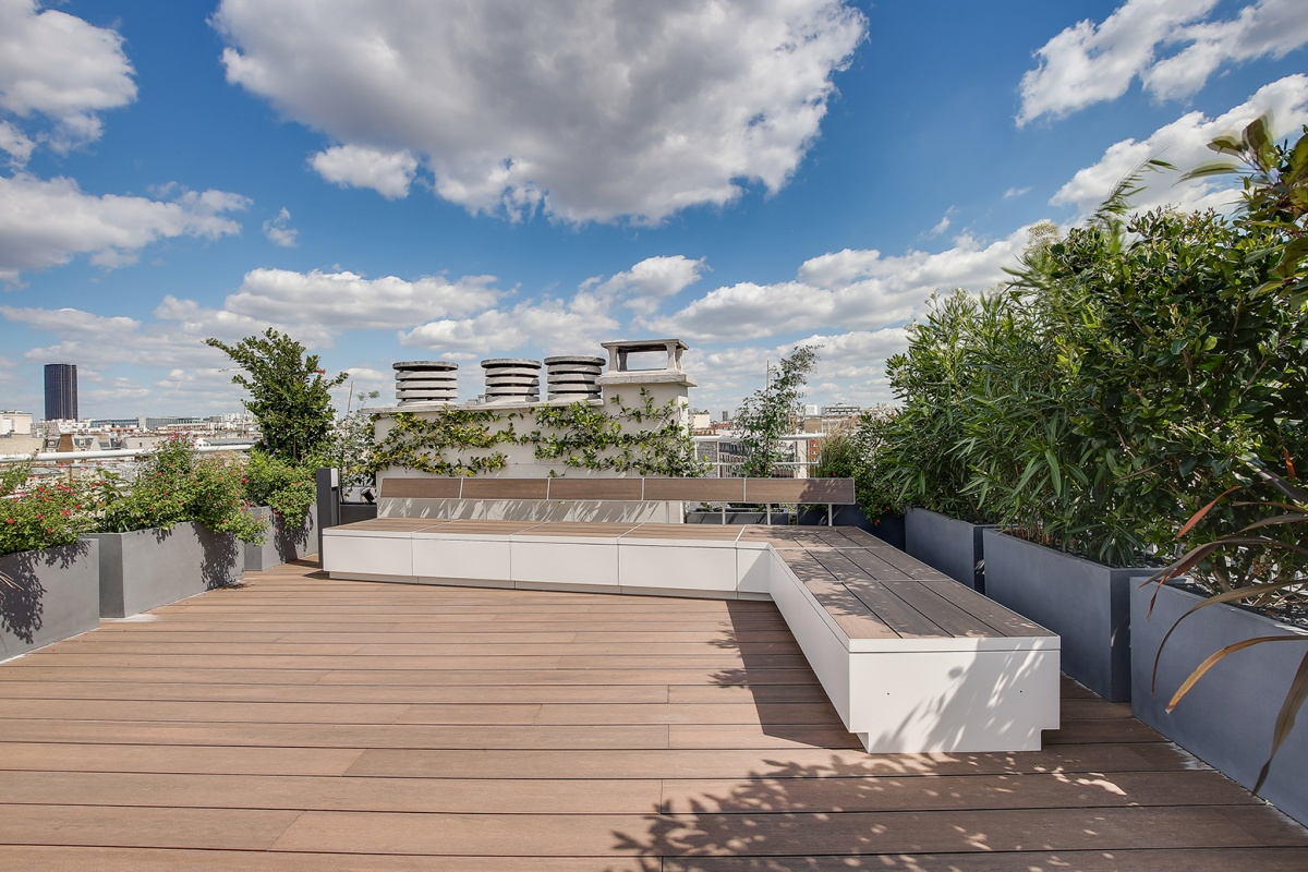 Réaménagement d'un appartement à Paris et création d'un rooftop : toit terrasse architecte