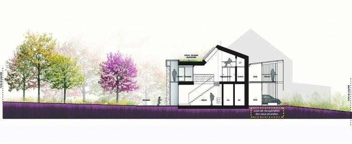 maison HQE : Coupe AA