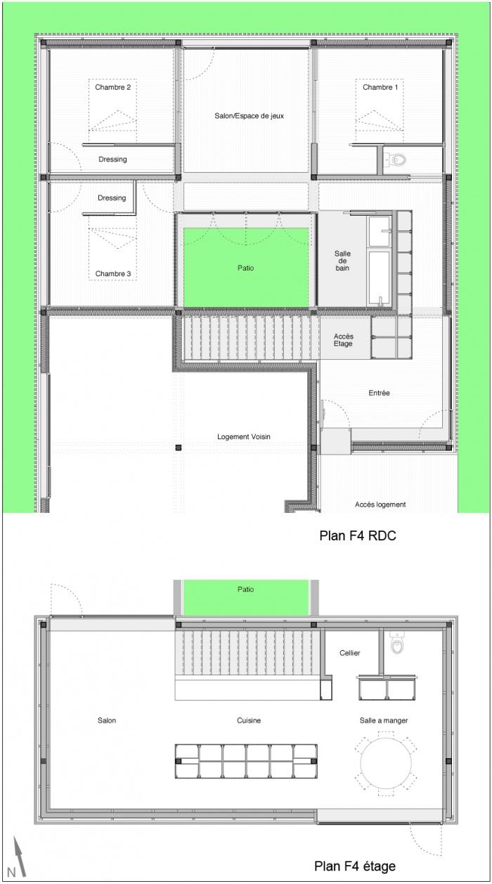 Maisons patio gizeux - Plan maison avec patio interieur ...