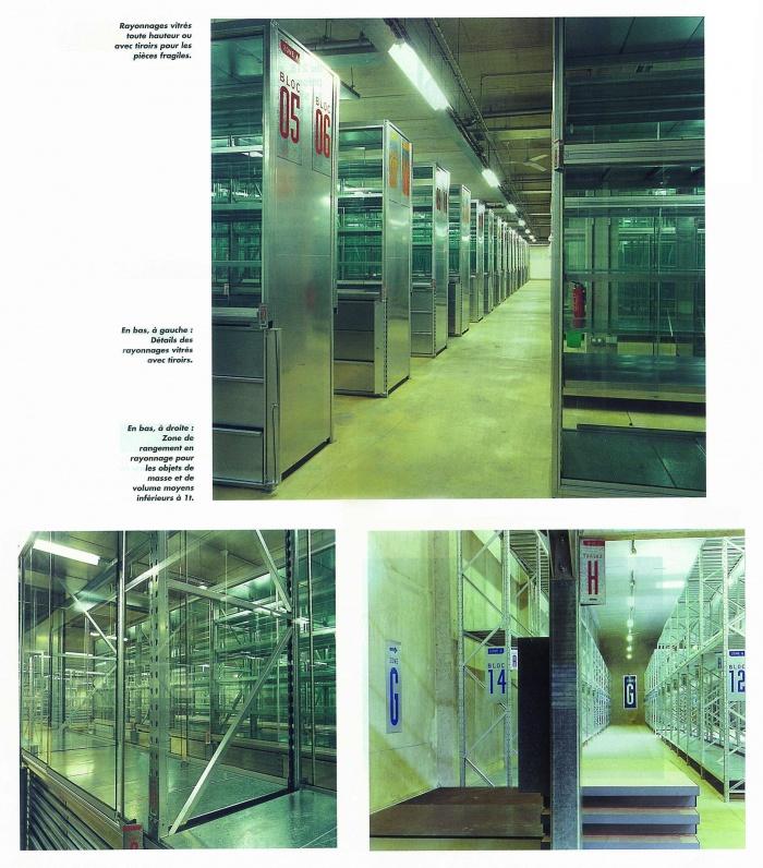 Réserves du Musée des Arts et Métiers / pour F. Deslaugiers architecte : Cnam_Vitrines_light