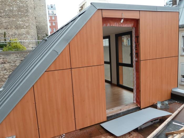 Trois maisons de ville, duplex et studio : terrasse II