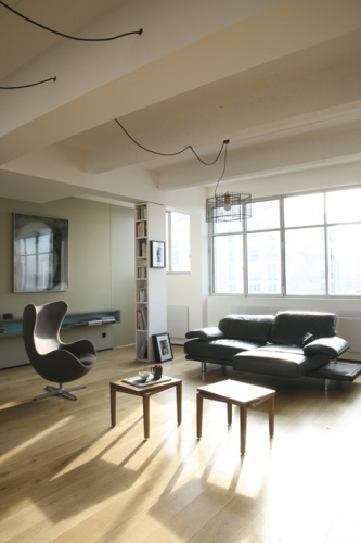 Loft Paris 19° : living