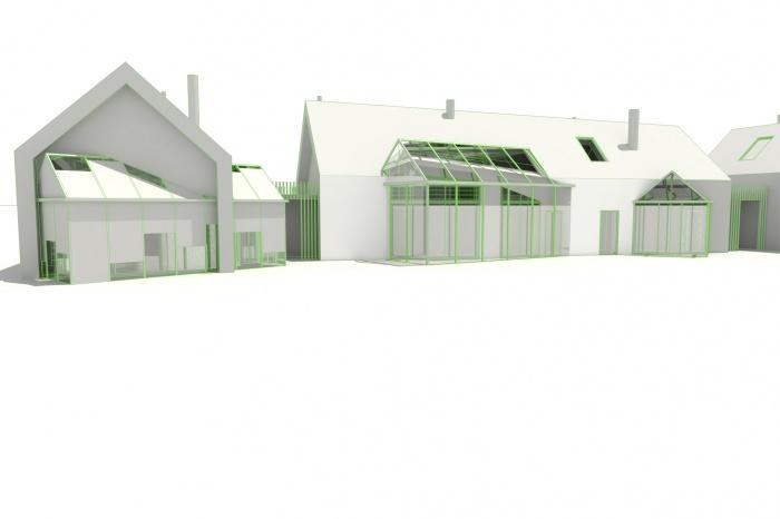 3 logements imbriqués, T2, T3 et T4 - Ecoquartier