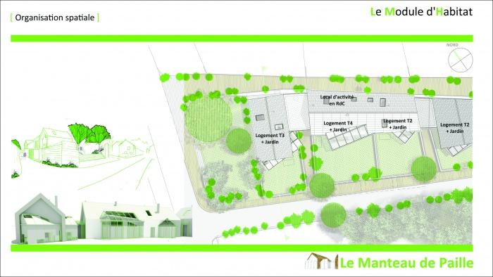 3 logements imbriqués, T2, T3 et T4 - Ecoquartier : 2011_02_16_Présentation Candes 10