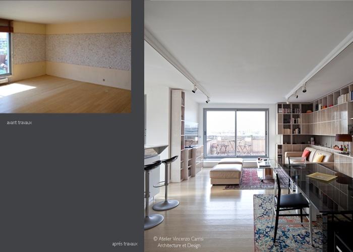 Rénovation - aménagement d'un appartement à Paris 11ème : 02 Atelier Carrisi sejour