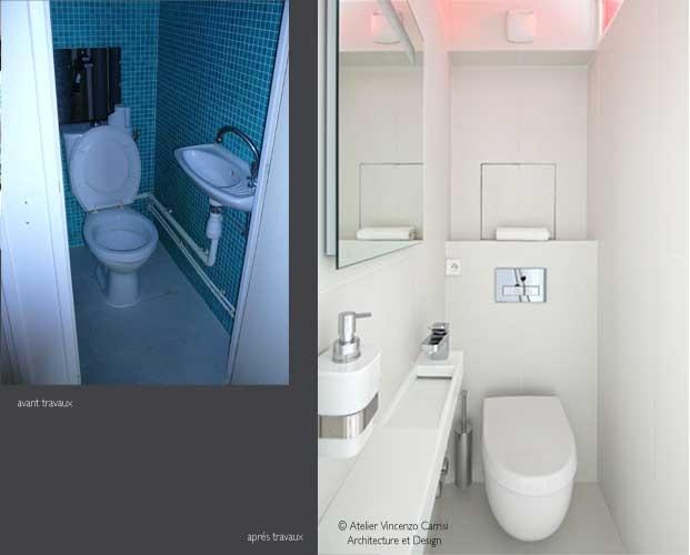 Rénovation - aménagement d'un appartement à Paris 11ème : 05 Atelier Carrisi WC