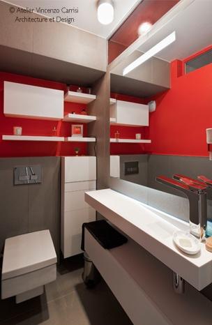 Rénovation - aménagement d'un appartement à Paris 11ème : 07 Atelier Carrisi WC