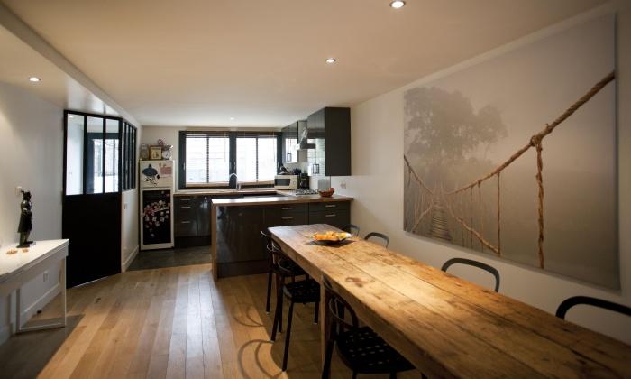 Extension de maison de ville : salle à manger