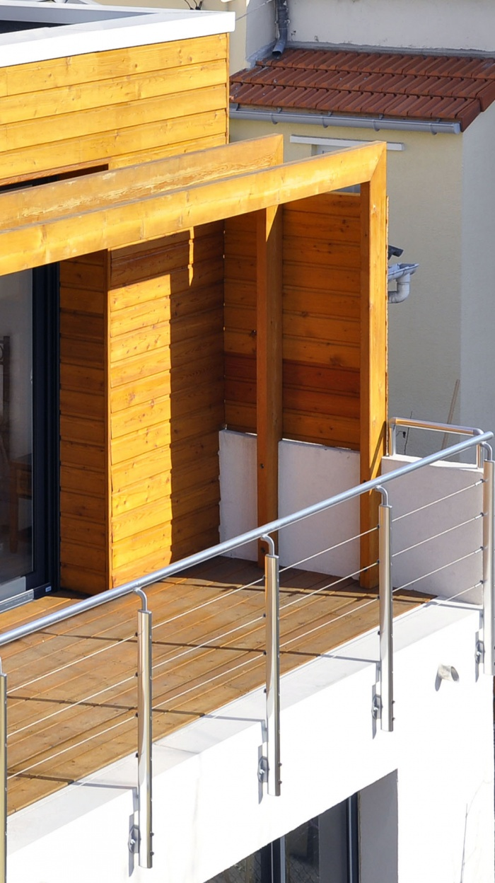 Extension de maison de ville : terrasse R+1