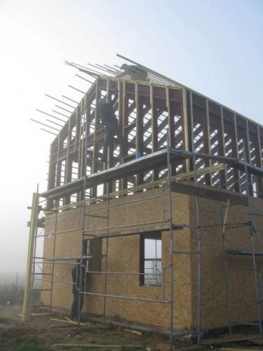 Construction d'une maison individuelle BBC : chantier 2