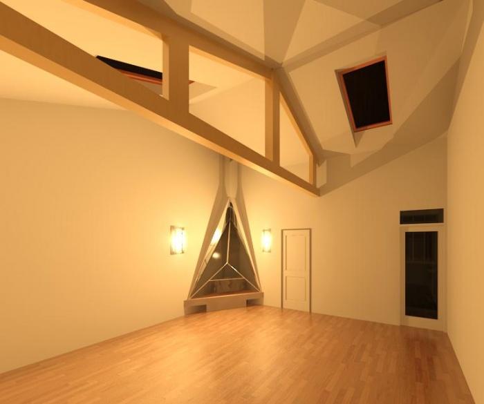 Réhabilitation d une maison de Banlieu : Vue 3D 4