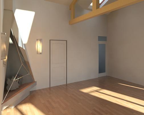Réhabilitation d une maison de Banlieu : Vue 3D 5