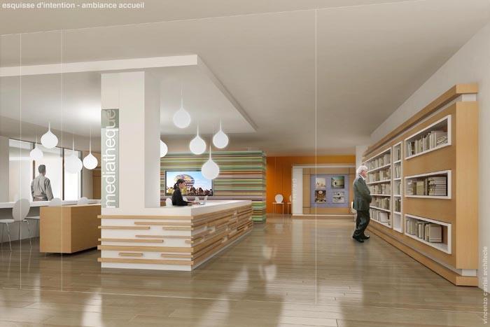Rénovation - aménagement Médiathèque