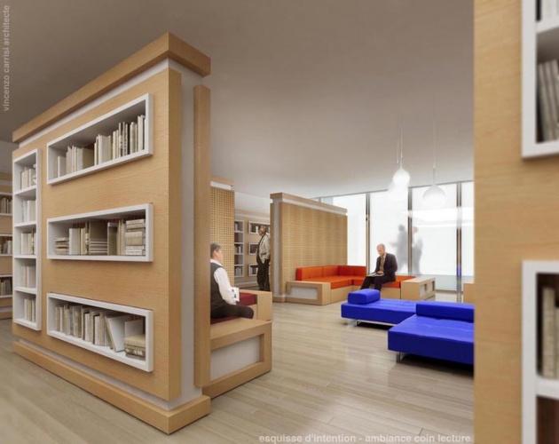 Rénovation - aménagement Médiathèque : Le coin lecture