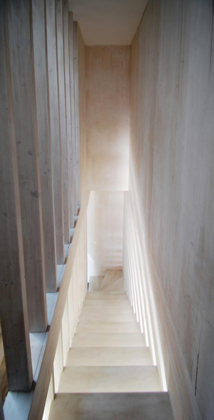 Maison individuelle BBC - ossature bois préfabriquée : EPINAY_ESCALIER