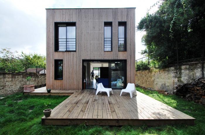 Maison individuelle BBC - ossature bois préfabriquée : EPINAY_FRONT_02