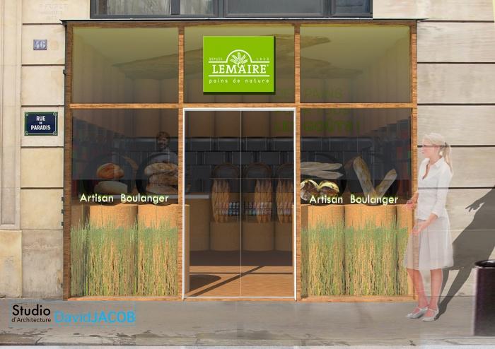 Boulangerie BIO-concept : LEMAIRE-facade2015 -2MO