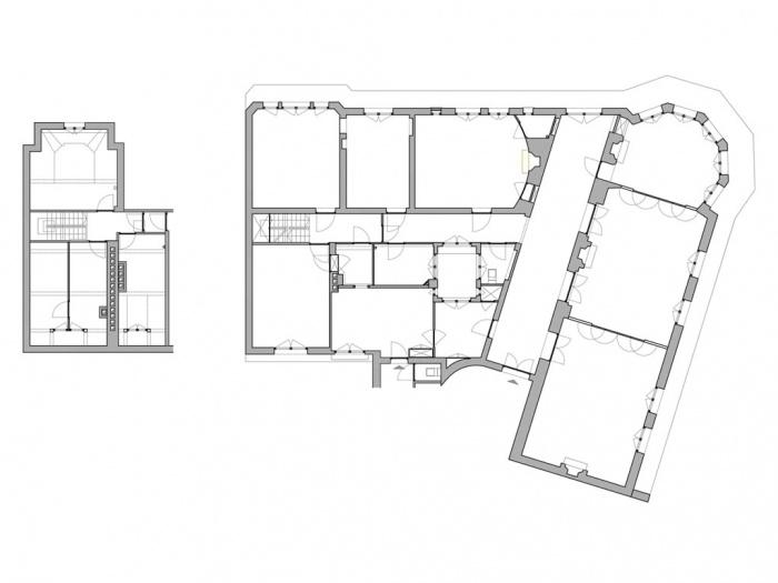 Logement_duplex à Paris 16e : plan_existant
