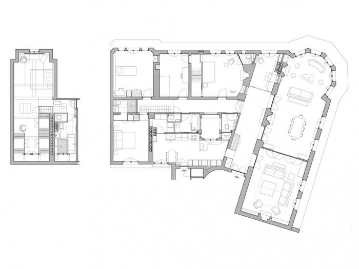 Logement_duplex à Paris 16e : plan_projet