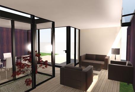 Maison HQE : vue intérieure 2