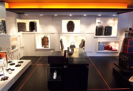 Store concept Samsonite Black Label : intérieur SBL
