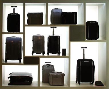 Store concept Samsonite Black Label : mural SBL