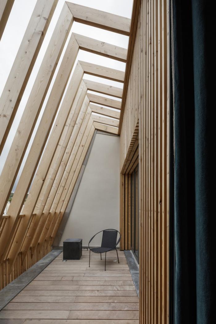 Extension en bois et restructuration d'une maison : 12