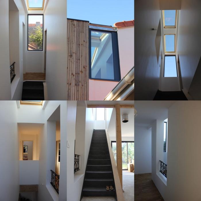 Rénovation et extension de maison, construction à ossature bois : 06_montage interieur