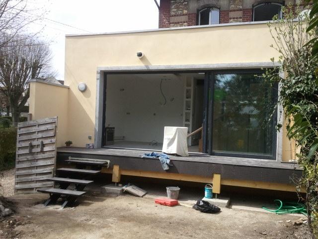 Extension et restructuration d'une meulière : Extension (chantier)